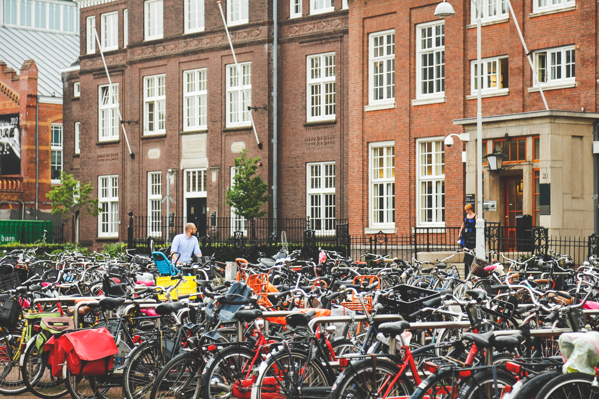Amsterdam lots of bicycles