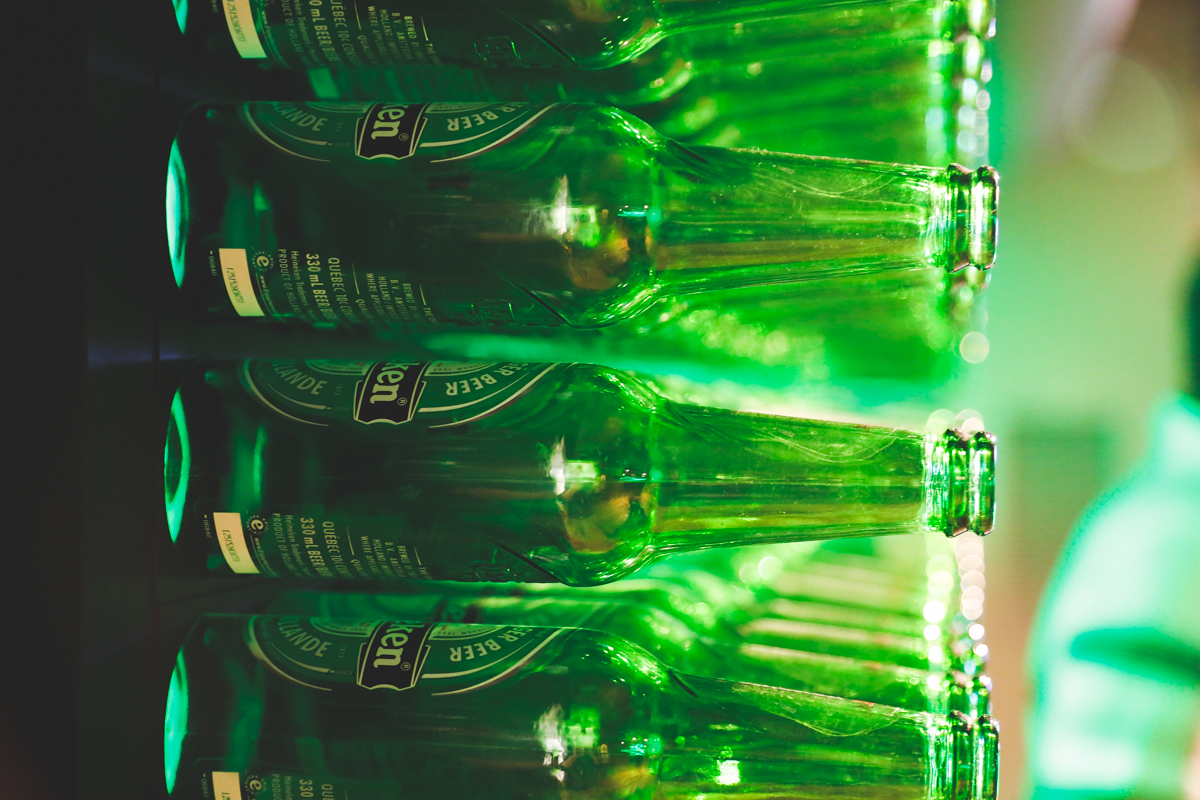 Amsterdam Heineken bottles
