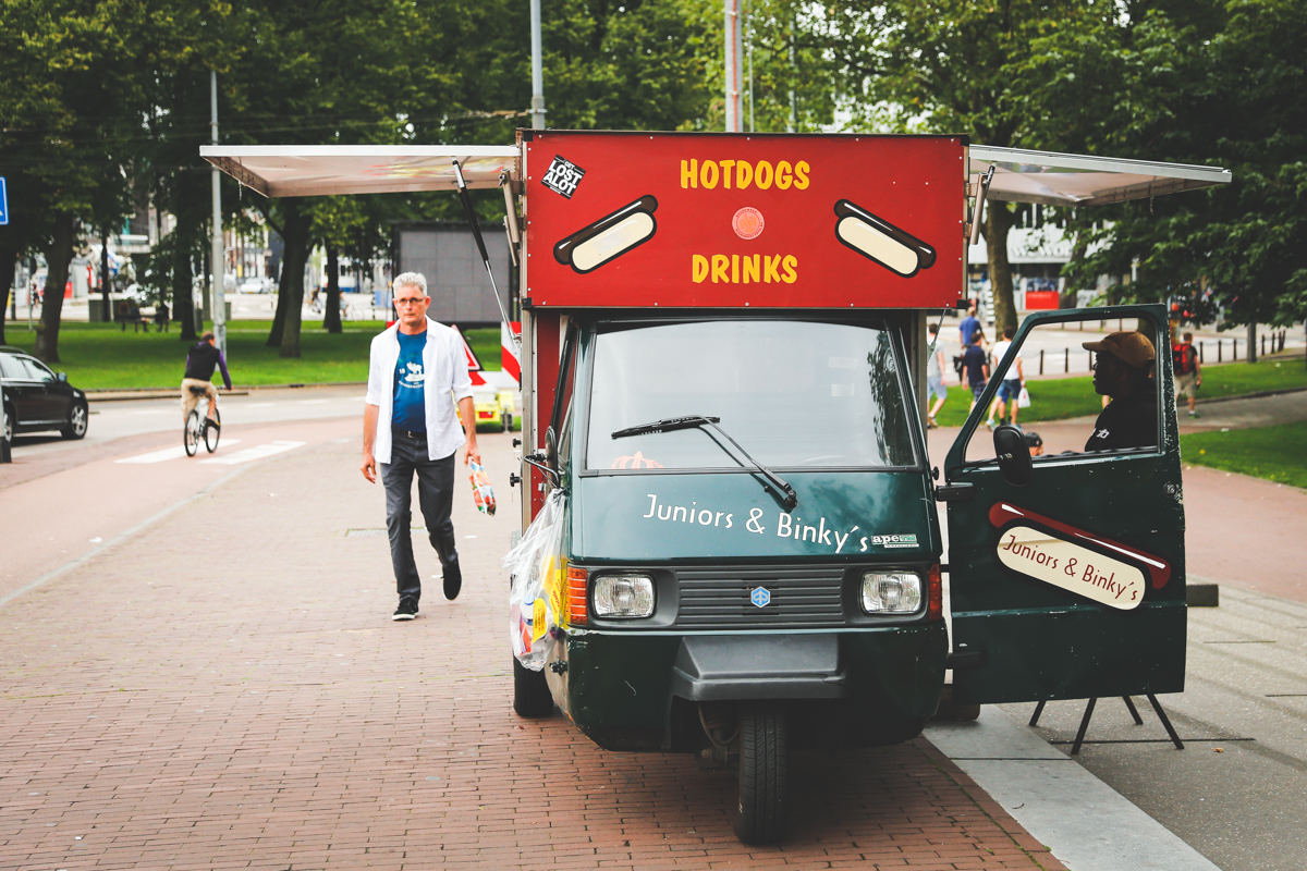 Amsterdam food cart